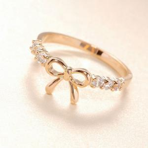 Cute Rhinestone Bow Ring-g..