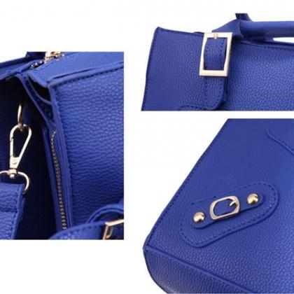 Stylish Side Zipper Buckle Leather ..