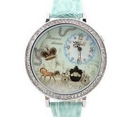Fashion Rhinestone Trim Polymer Clay Watch