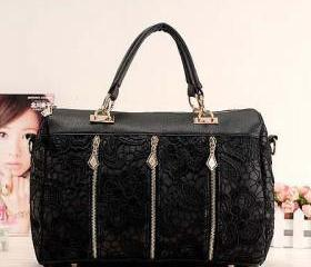 Fashion Black Lace Handbag & Shoulder Bag