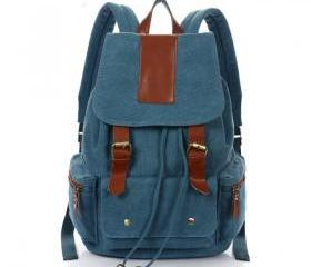 Vintage Nice Canvas with leather Backpack