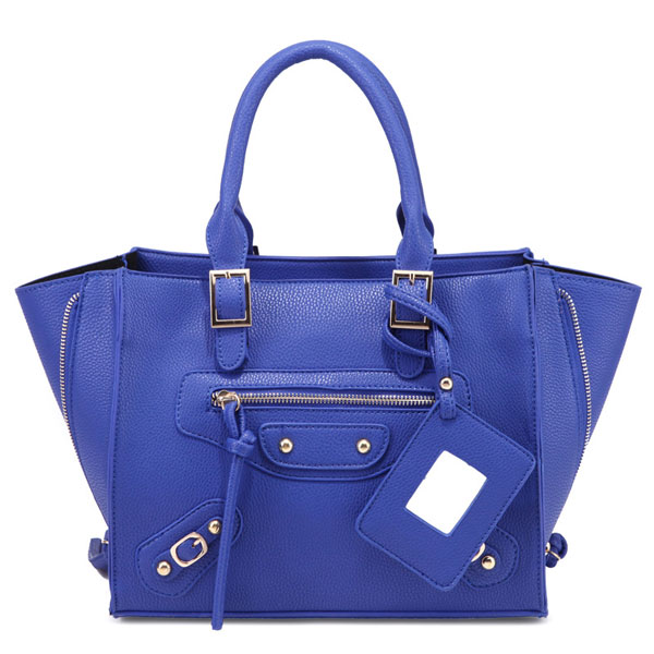 Stylish Side Zipper Buckle Leather Handbag