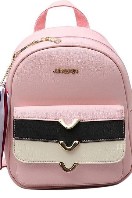 Stripes Flap Decorative Backpack Street Style Small School Backpack