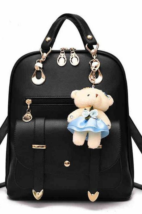 Women Bag British Bear Multifunction Handbag Backpacks