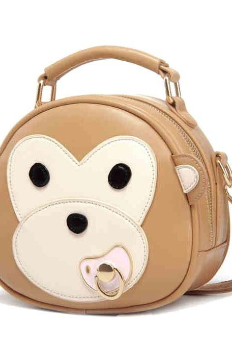 Cartoon Nipple Monkey Messenger Bag Student Shoulder Bag